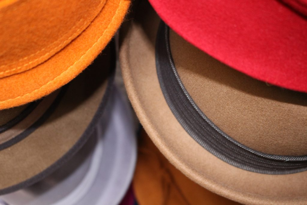 Coloured hats