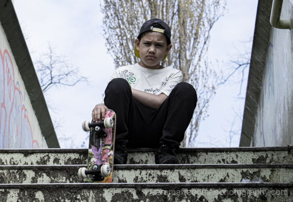 Young skater boy