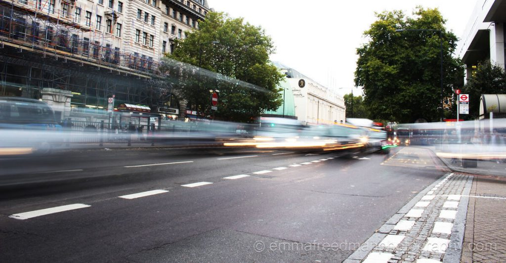 Motion blur in Baker-street London